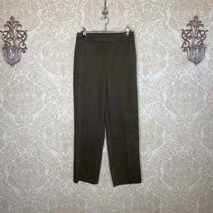 Theory straight cargo chino wide leg pants